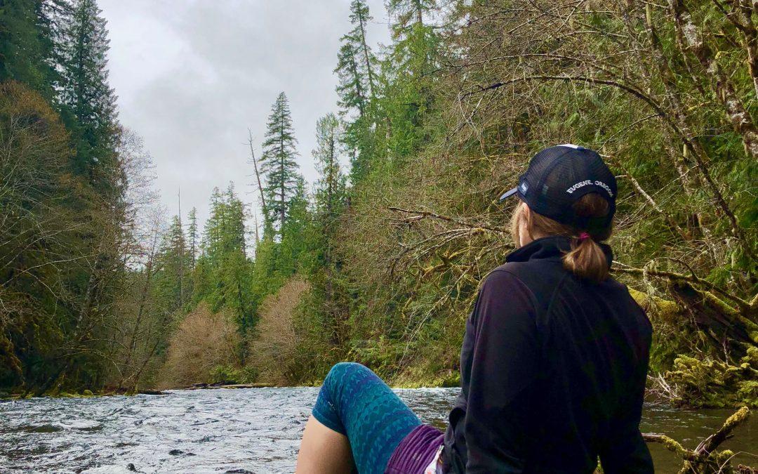 Rachel and the McKenzie River