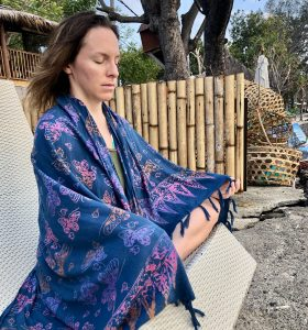 Rachel starting and sustaining her meditation practice in Gili Aire, Lombok, Indonesia